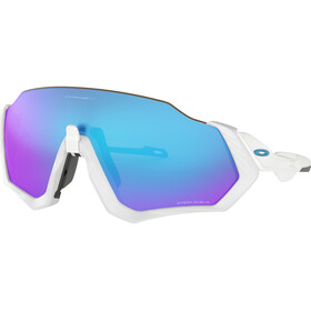 Oakley Flight Jacket Pyöräilylasit, polished white/prizm sapphire